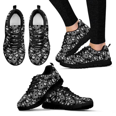 Black and white Women's Sneakers, , FamilyTrophy.com, FamilyTrophy.com - FamilyTrophy.com