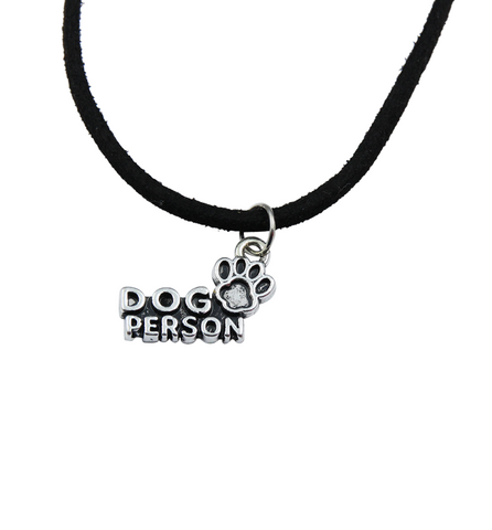 Dog Person Faux Leather Necklace, Jewelry, Trexify, FamilyTrophy.com - FamilyTrophy.com