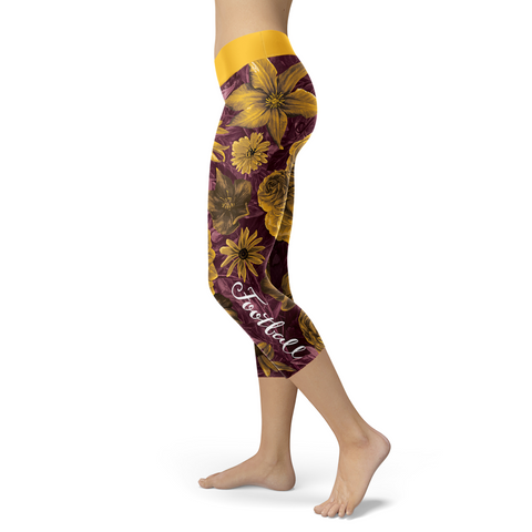 Washington Flower Football Capris, Capris, Xlusion, FamilyTrophy.com - FamilyTrophy.com