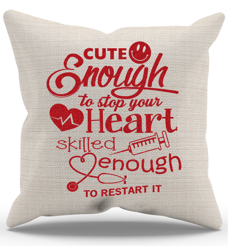 Cute Enough Pillow Case, Pillow Case, Trexify, FamilyTrophy.com - FamilyTrophy.com