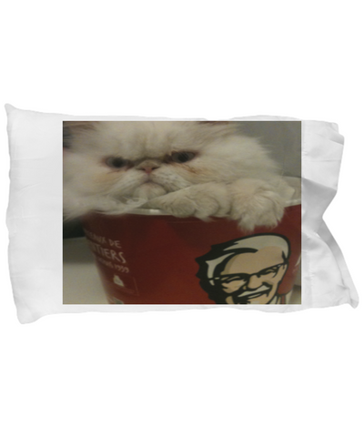 Funny Persian Kitten Pillow Case - Holiday Gift 2017 2018 - Bedding Gift For Cat Moms - Perfect Christmas Gifts For Her, Pillow Case, Gearbubble, FamilyTrophy.com - FamilyTrophy.com