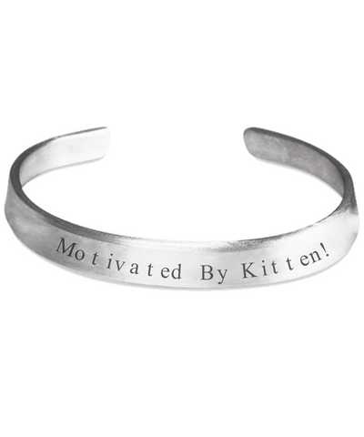 Cat Bracelet Jewelry for Women Men Stamped Silver Gift 2017 Motivated By Kitten Bracelets, Bracelet, Gearbubble, FamilyTrophy.com - FamilyTrophy.com