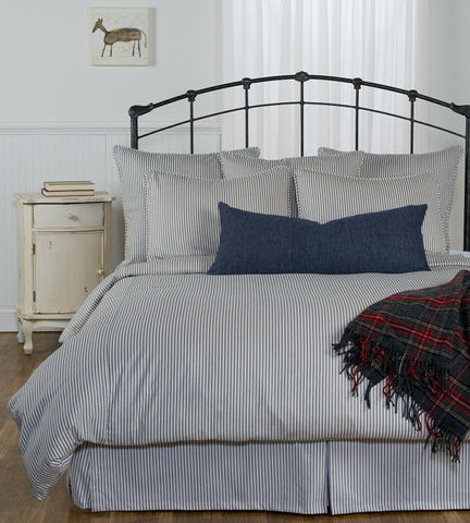 Ticking Stripe Duvet Navy Blue