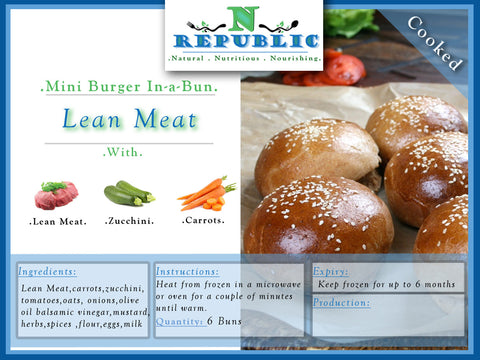 Mini Burger In-a-Bun : Lean Meat (Ready to serve)