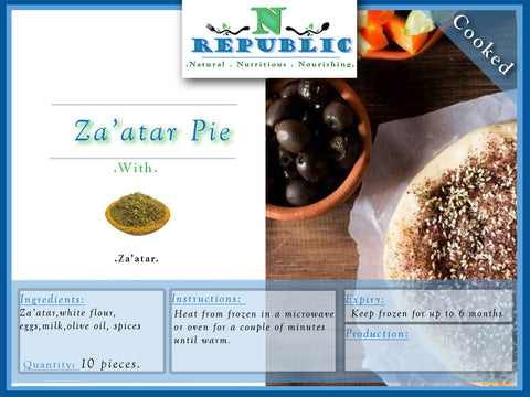 Za'atar Pie (ready to serve)