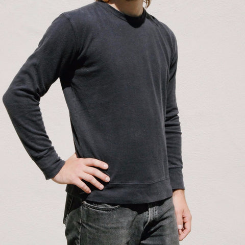 Jungmaven - California Pullover Washed Black