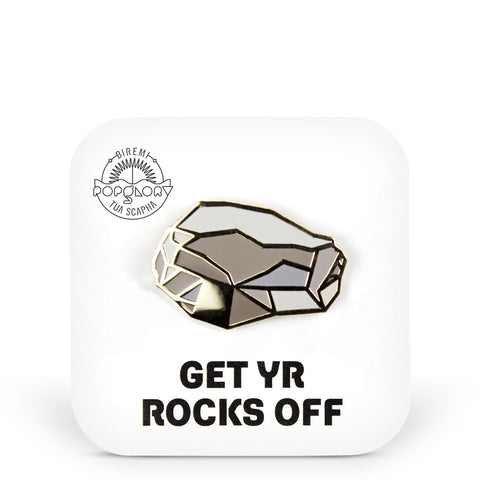 Popglory Rock Pin - Get Yr Rocks Off