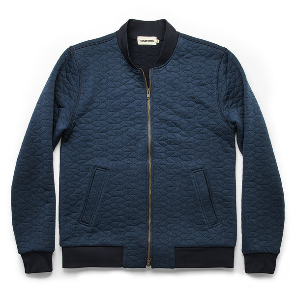 Taylor Stitch - The Inverness Bomber - Navy Knit Quilt