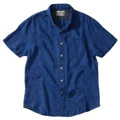 Grayers - Paloma Sun Washed Linen Short Sleeve Shirt - Blue