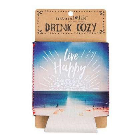 "Natural Life ""Live Happy"" Can Cozie"
