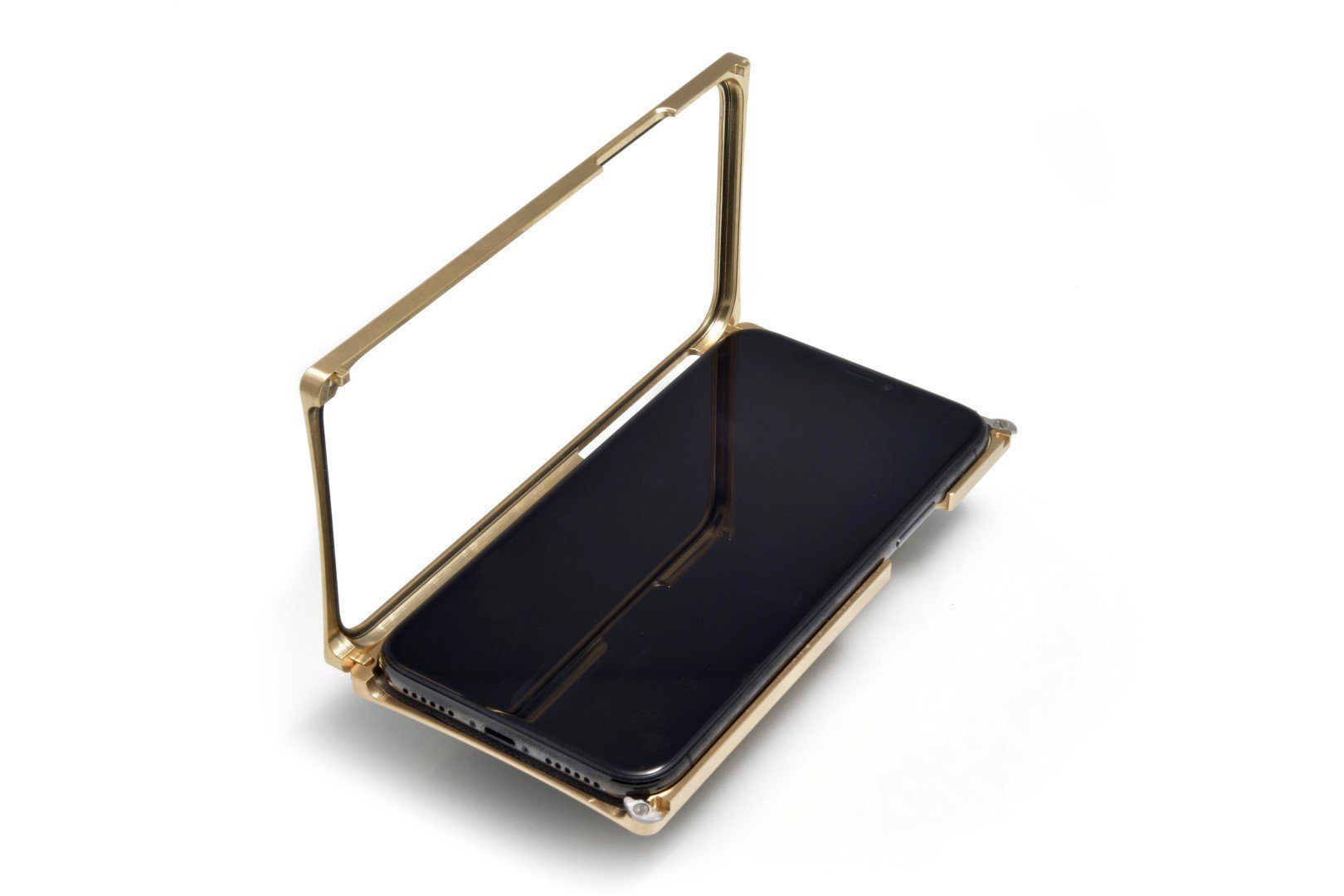 Brass Case with Black G10 Inlay for iPhone XS