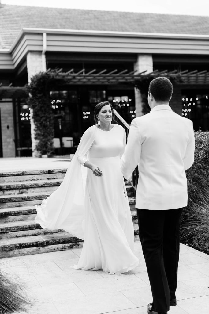 Natalie Pipkin Wedding Austin Texas Custom Wedding Gown David Peck