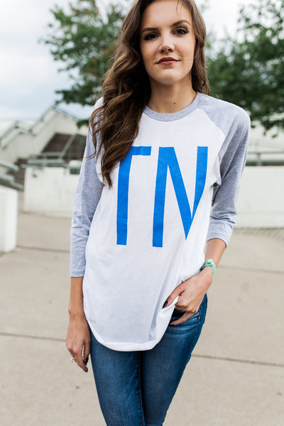 TN Blue Baseball Tee