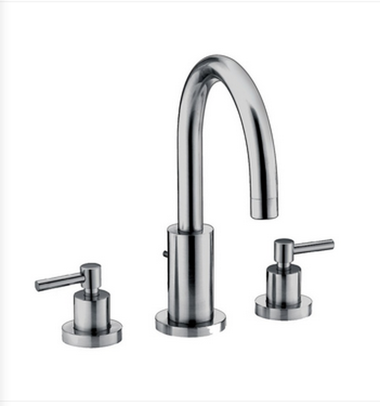 Buy Deck Mounted Roman 2 Handle Tub Filler with Goose Neck Spout - Zen Tap Sinks