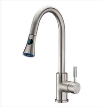 Buy Cadell Brushed Stainless Steel Kitchen Faucet with Pull-Down Spray - Zen Tap Sinks - 1