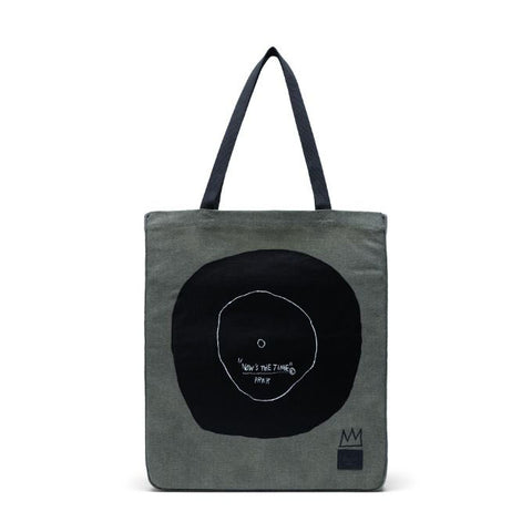 "HERSCHEL TOTE COTTON CANVAS (DARK OLIVE / BASQUIAT ""NOW'S THE TIME"") - 10611-03010 - Ateaze Canada"