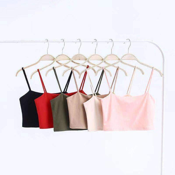 Bavlna Strappy Crop Top & Mini sukňa Set