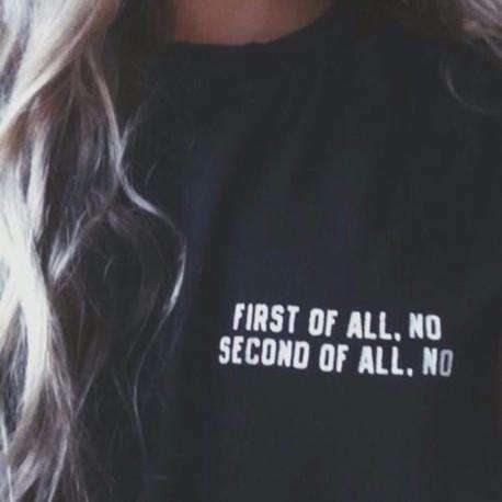 T-shirt First of All No Hipster Punk - Lupsona