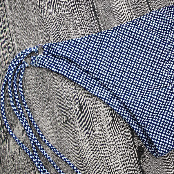 Gingham Side Tie-up 2 Kusy Bikini Set - Lupsona