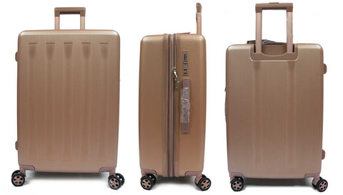 Strolling Polycarbonate Expandable Luggage with Spinner Wheels and Recessed Safe Skies TSA Lock