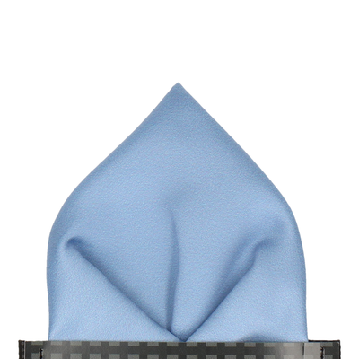 Classic in Steel Blue Pocket Square