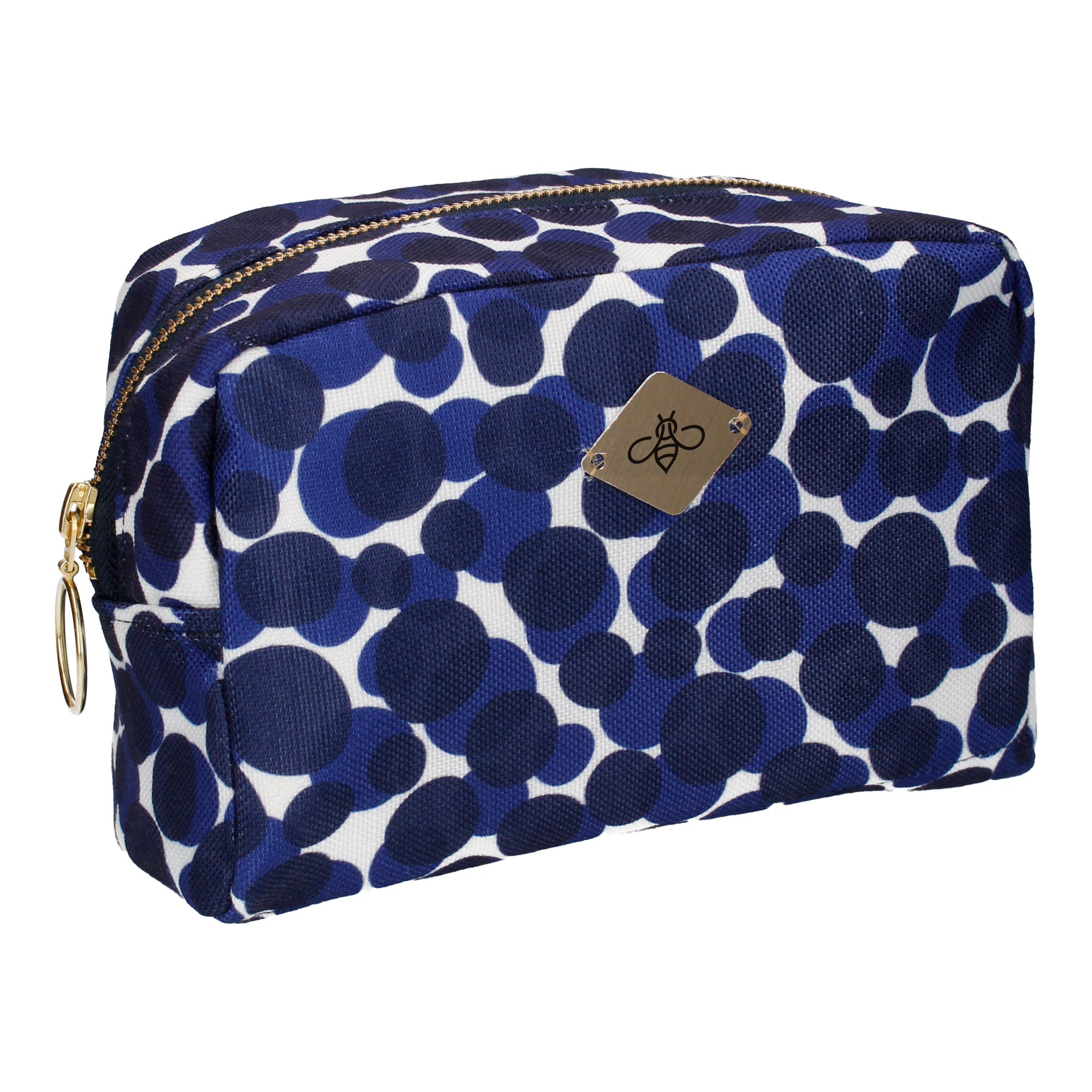CATARA IN BLUE COSMETIC BAG (LARGE)