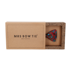 Patel Burgundy Dark Red Paisley Bow Tie