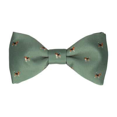 Beagles Green Bow Tie