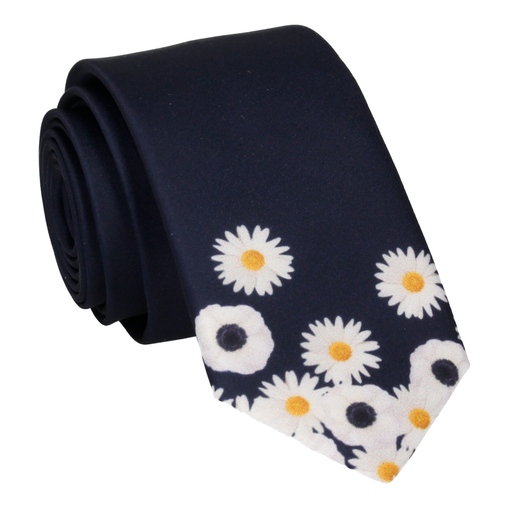 Floral Edge in Daisies Tie