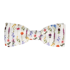 Flower Stems in White Bow Tie