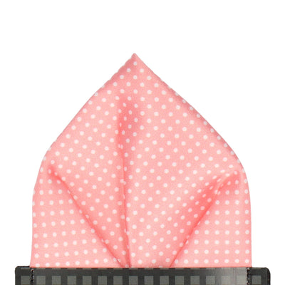 Pin Dots in Soft Coral Pocket Square
