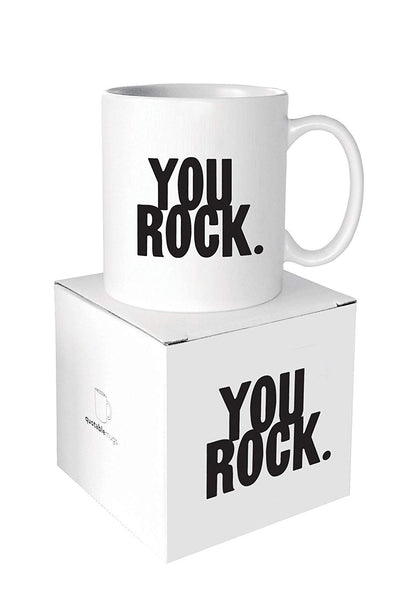 Quotable Cards - You Rock - 14-oz Mug with Gift Box