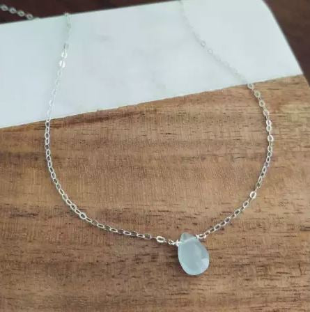 "Boem Jewelry - 16"" Chalcedony Necklace"