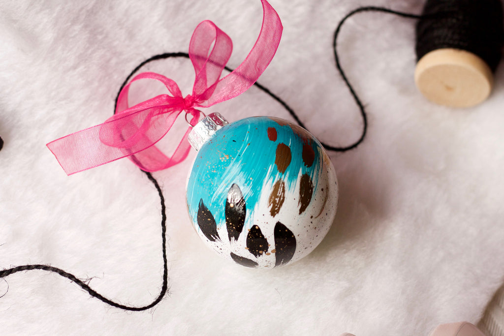 Crackle No. 7 - Hand Painted Holiday Ornament - Holidays 2016