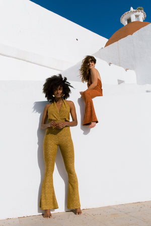 GoGo Jumpsuit - Burnt Orange