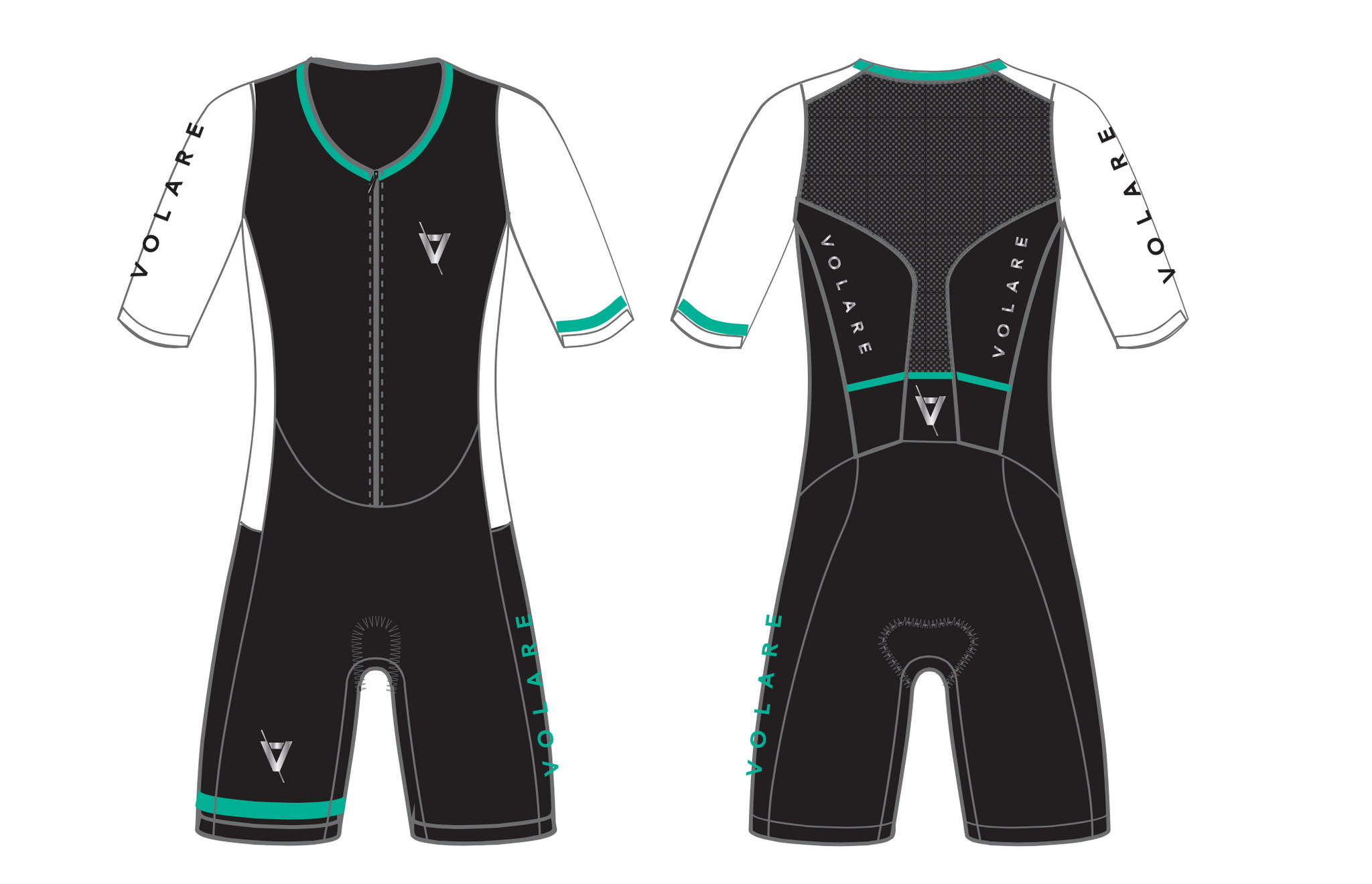Volare Womens Sleeved Tri Suit