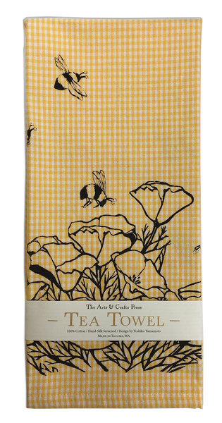 California Poppies Tea Towel