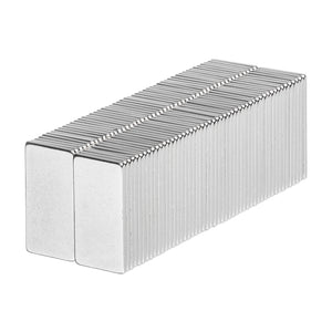1/2 x 1/4 x 1/32 Inch Neodymium Rare Earth Block Magnets N52 (100 Pack)