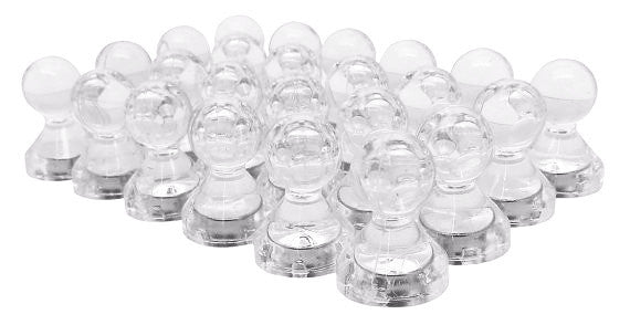 totalElement Large Clear Translucent Magnetic Push Pins (24 Pack)