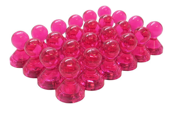 totalElement Large Pink Translucent Magnetic Push Pins (24 Pack)
