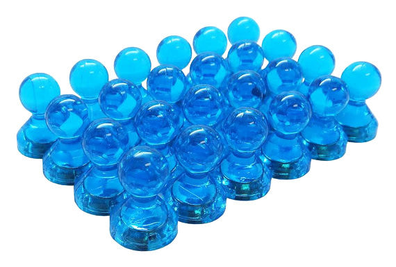 totalElement Small Blue Translucent Magnetic Push Pins (24 Pack)