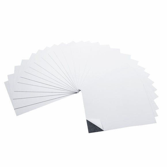 5 x 7 Inch Strong Flexible Self-Adhesive Magnetic Sheets Peel & Stick Refrigerator Magnet Sheets (25 Pieces)