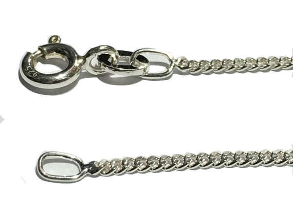 "18"" / 45cm long, 925 Sterling Silver Chain - Light Curb Link Chain - 925 Sterling Silver"