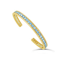 fine jewelry aquamarine open back cuff bracelet bangle