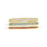 fine jewelry gold birthstone cuff bracelets for March July and April