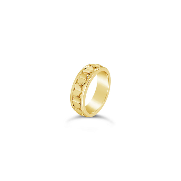 18k gold love heart ring sweetheart commitment ring
