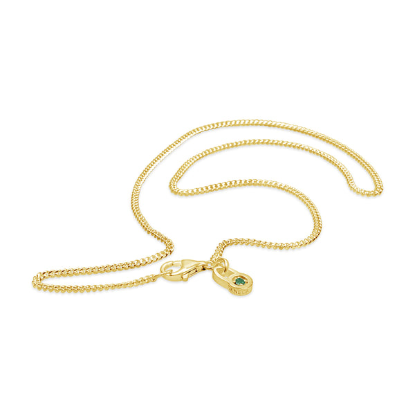 18k gold thin micro curb chain necklace for small pendants and charms