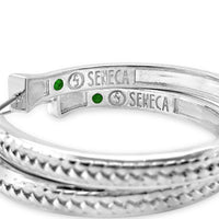 sterling silver woven hoop earrings by seneca jewelry