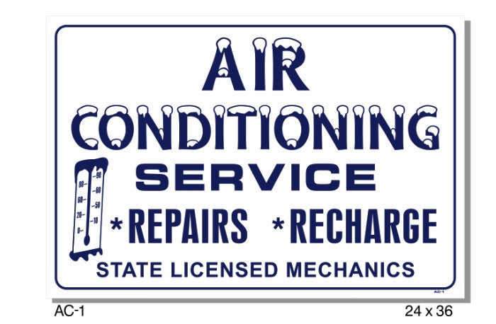 AIR CONDITIONING SERVICE SIGN
