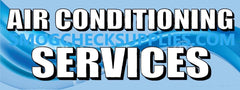 Air Conditioning Services | Blue | Vinyl Banner